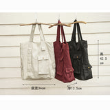 Women Cotton Linen Bags Simple Style Women Shoulder Bag
