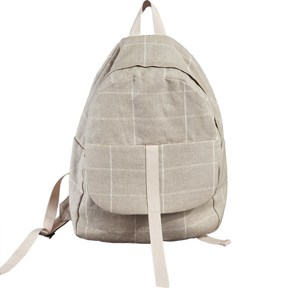 Checked Casual Simple Style Women Backpack Shoulder Bag