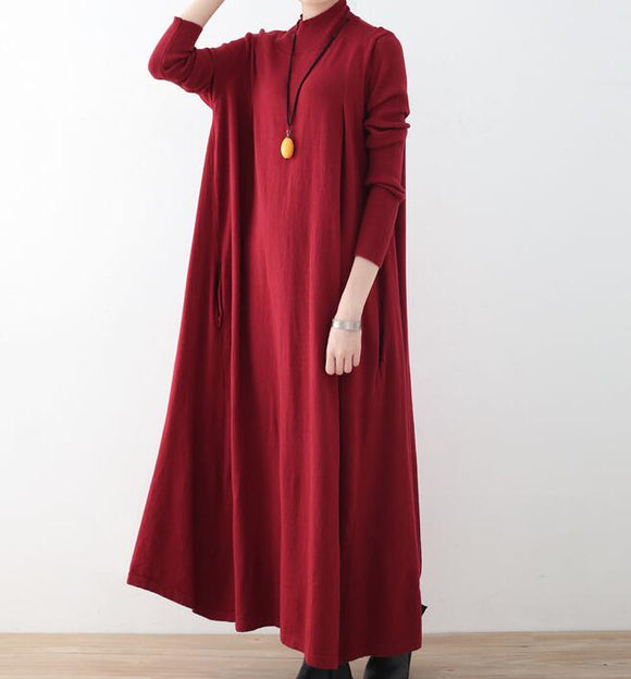 A-line Knit Long Women Dresses AMT962328