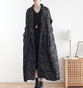 Long Casual Coat Loose Hooded  Plus Size Coat Jacket