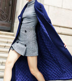 Waist Belt Cashmere Coat Handmade Long Warm Long Women Wool Coat Jacket