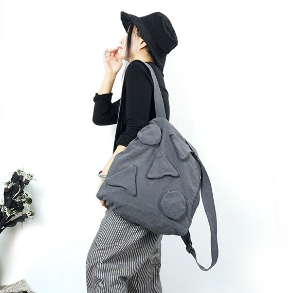 Geometric Patterns Women Backpack Cotton Bag