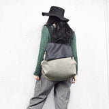 Leather Women Bag Simple Style Women Backpack Shoulder Bag