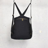 Black Green Color Block Simple Style Women Backpack Shoulder Bag