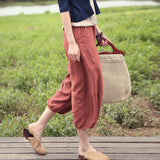 Summer Women Casual Linen Wide Leg Pants BZ981102