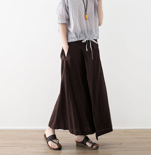 simplelinenlife-Casua-Summer-Women-Linen-Cotton-Skirts