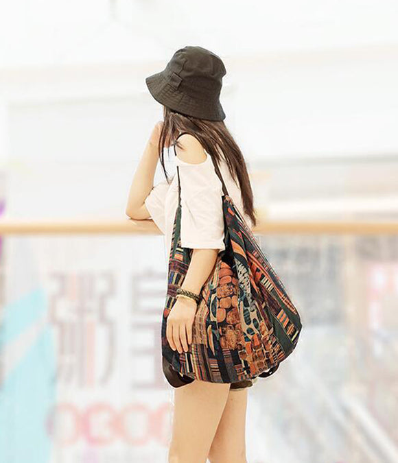 Colorful Casual Simple Women Travel Backpack Shoulder Bag
