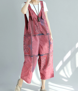 Denim Casual Spring Denim Overall Loose Short Women Jumpsuits