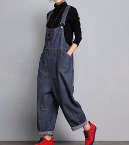Denim Casual Spring Denim Overall Women Jumpsuits