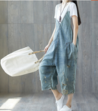 Handmade Denim Casual Spring Denim Overall Women Jumpsuits