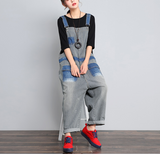 Loose Denim Casual Spring Denim Overall Women JumpsuitsQY13