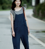 Linen Summer Autumn Women Casual Pants with Pockets