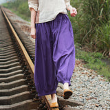 Linen Pants Summer Wide Legs Women Pants MDYP9763