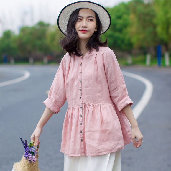 simplelinenlife-Linen-Sleeves-Spring-Summer-Women-tops
