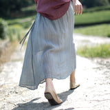 Linen-Spring-Summer-Women-skirts
