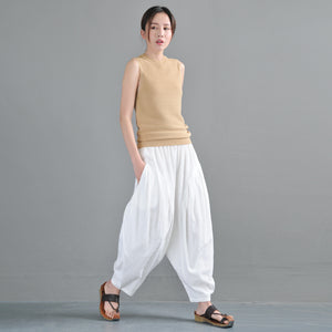 simplelinenlife-Linen-Summer-Wide-Legs-Women-Casual-Pants