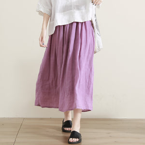 simplelinenlife-Women-Summer-Linen-Skirts