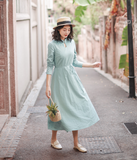 Summer Cotton Linen Spring Women Dresses
