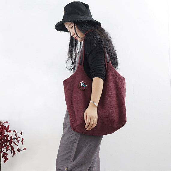 Women Large Bag Simple Style Women Backpack Shoulder Bag