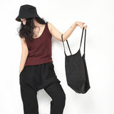 Cotton Women Backpack Shoulder Bag Simple Style
