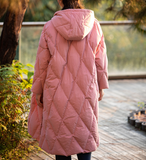 Hooded Cotton Winter Down Jacket Women Down Coats