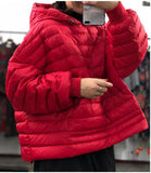 Loose Style Winter Any Size Down Jacket Hooded Women Down Coats