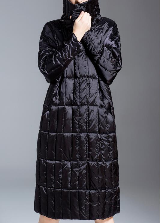 Waist-Blet-Long-Loose-Women-Down-Coat-Winter-Loose-90%-Duck-Down-Jackets