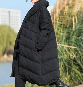 Thick  Long Winter Duck Down Jacket, Hooded Down Jacket Women Plus Size
