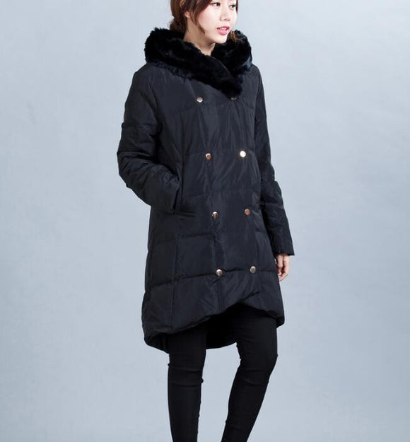 Women Winter Thick 90% Duck Down Jackets WarmDown Coat
