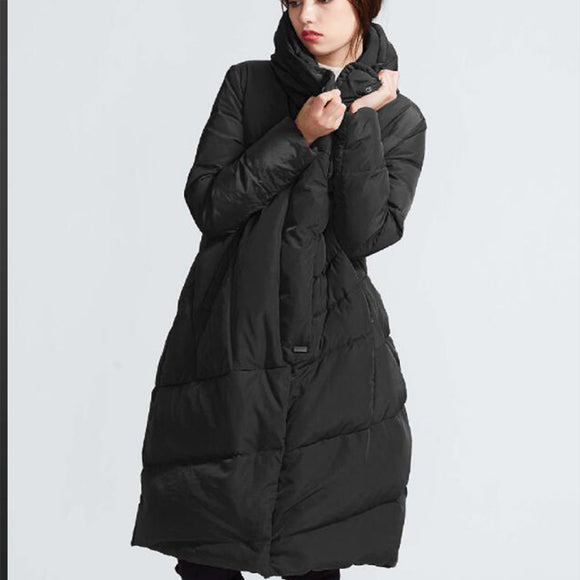 A-line Women Winter Thick 90% Duck Down Jackets Warm Down Coat Any Size