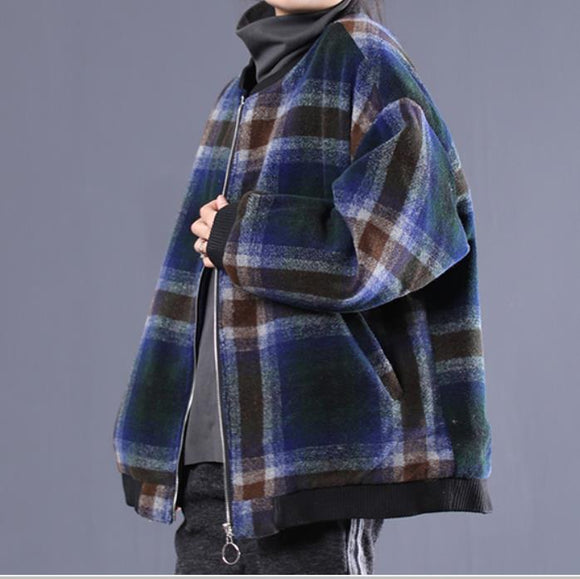 Women Coat Handmade Coat loose Women Wool Coat Jacket