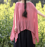 women-summer-silk-cotton-tops-asymmetric-pink-blouse (3)