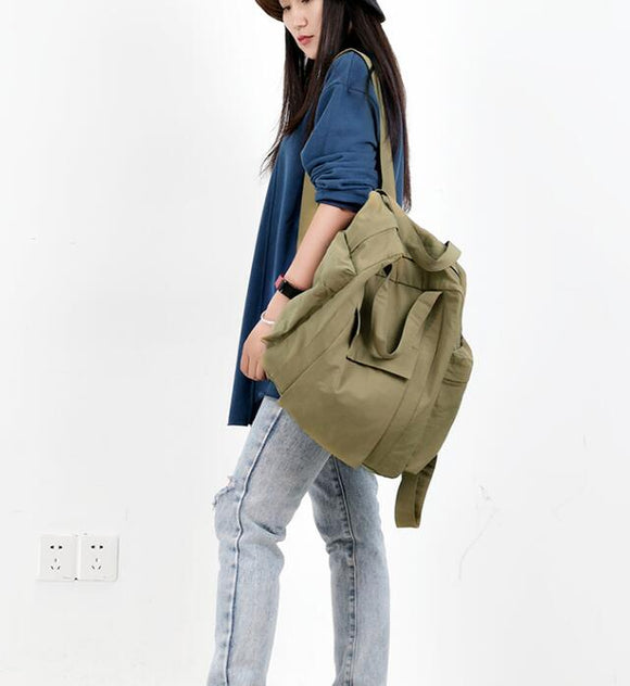 Casual Large Backpack Women Handbag Bag Shoulder Tote Bag Simple Design