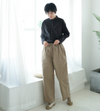 Cotton Women Casual Wide Leg Linen Pants SJ981107