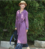 Linen Long Sleeve Autumn Women Shirt Linen Dresses With Buttons S90922