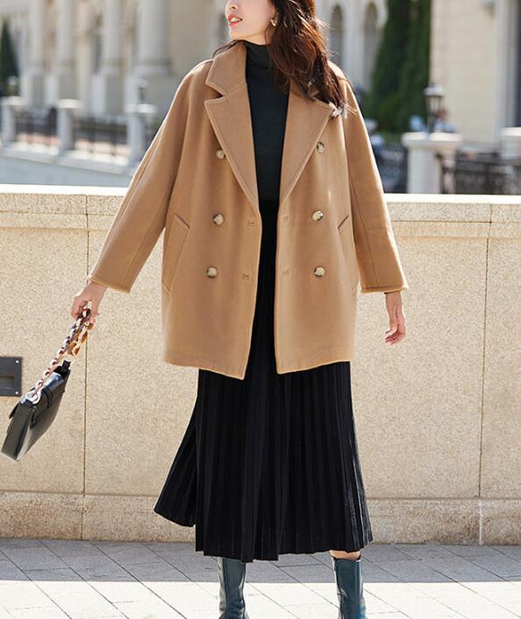 Warm Loose Women Coat Winter Wool Coat Plus Size Coat