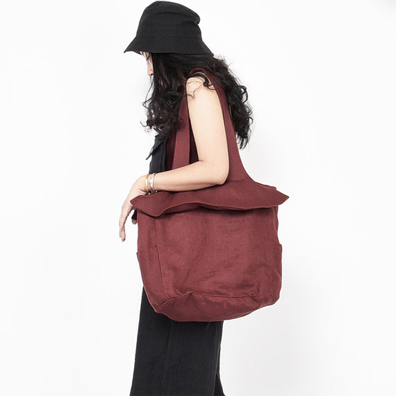 Casual Canvas Simple Style Tote Women Shoulder Bag