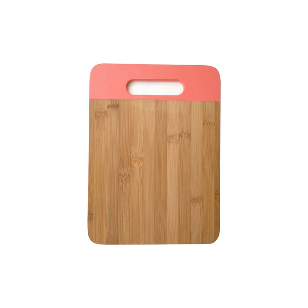 Bamboo Cutting Board in Coral