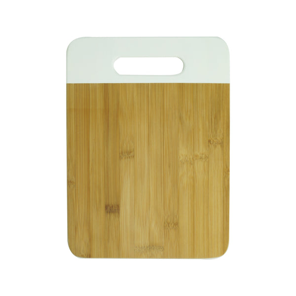 Bamboo Cutting Board in White