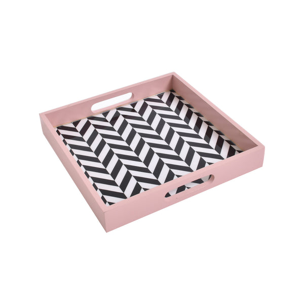 Coral Chevron Tray (Small)