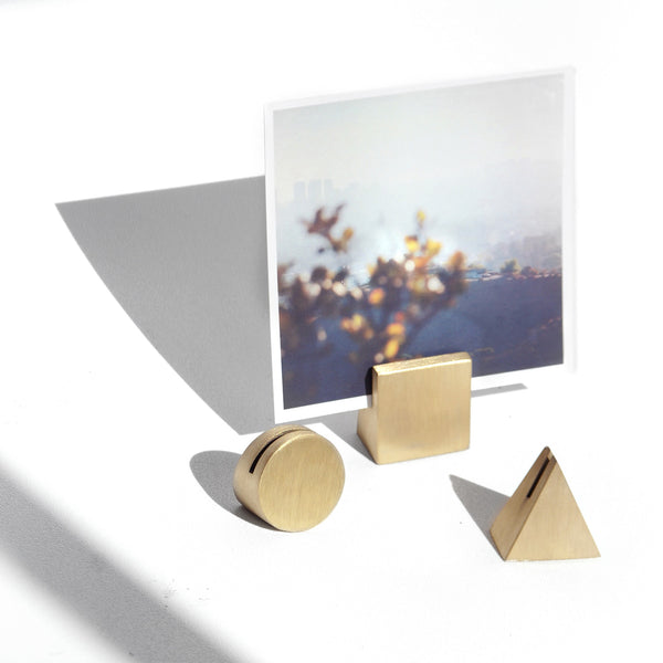 Brass Geo Photo Holder