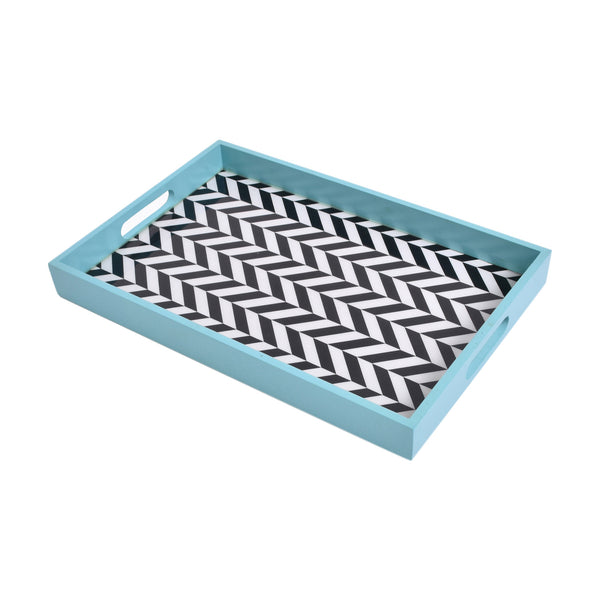 Blue Chevron Tray (Large)