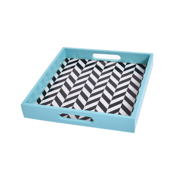 Blue Chevron Tray (Small)
