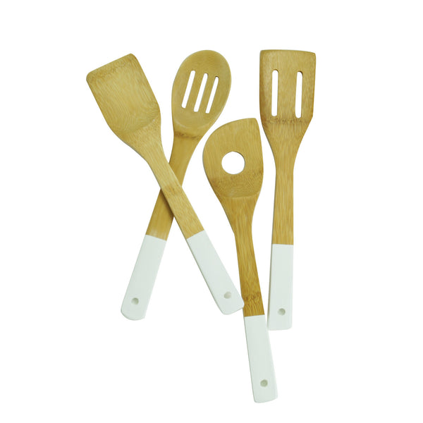 Bamboo Utensils in White
