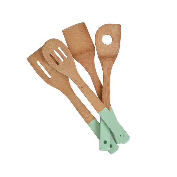 Bamboo Utensils in Mint