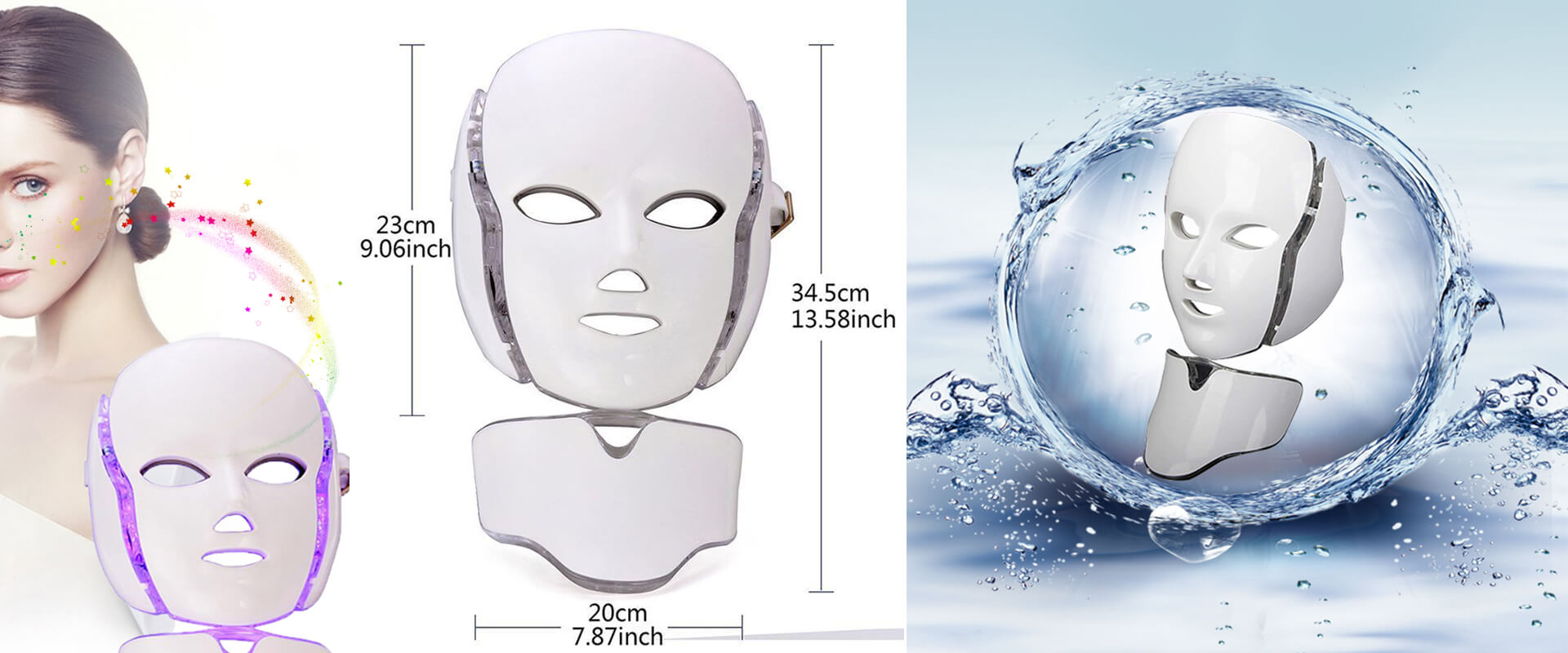 3 Color LED Mask Photon Therapy Facial Mask