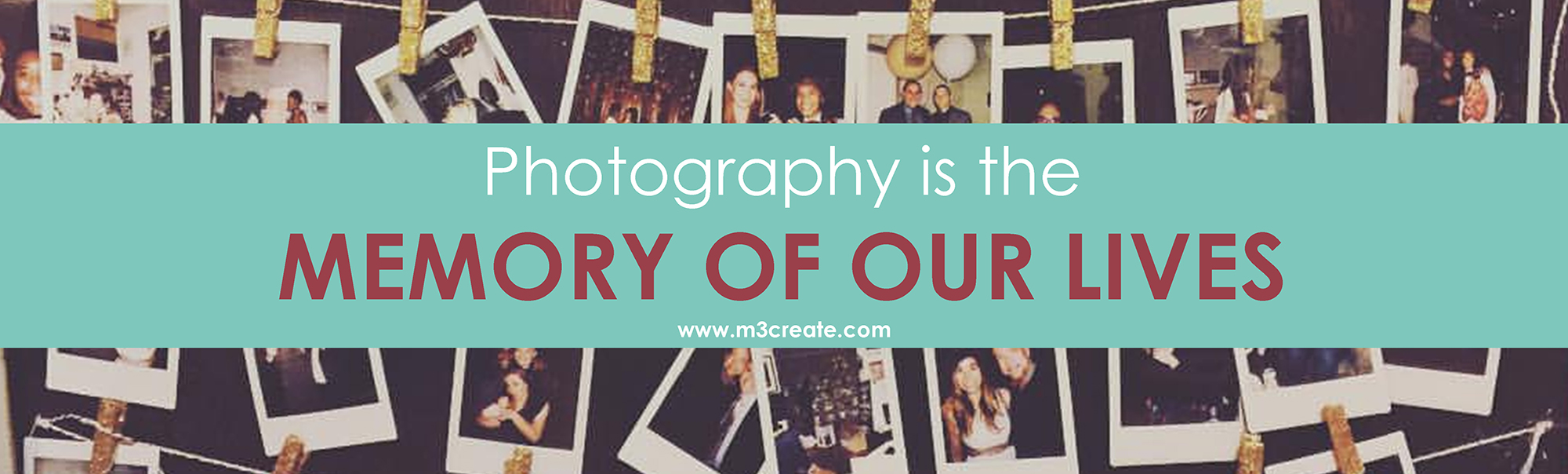 Photography is the Memory of our Lives Wedding Quote M3 Create