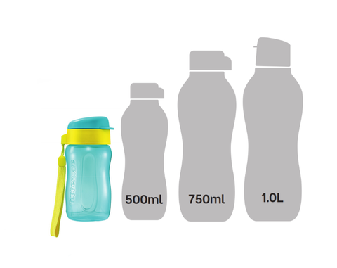 New Tupperware 310ml bottle size comparison