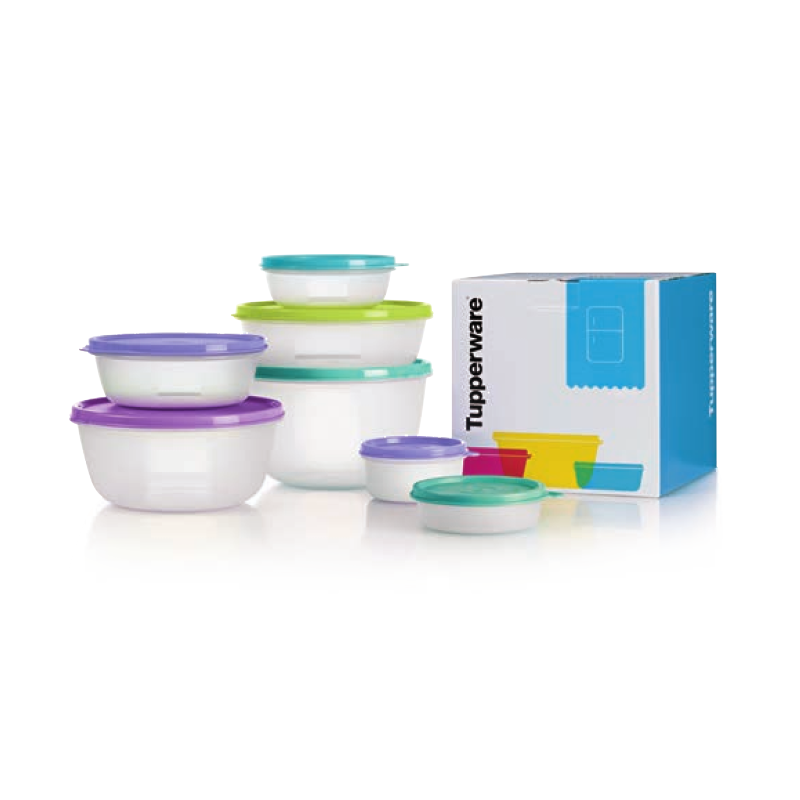 Tupperware 1112 4758 - Magnifi cent Modular Bowl Set with Gift Box