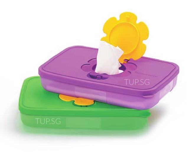 1112 6606 Tupperware Wet Wipes / Wet Tissue Box (2) 650ml